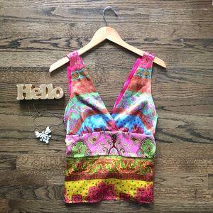 Alice & Tricia silk mixed print boho blouse